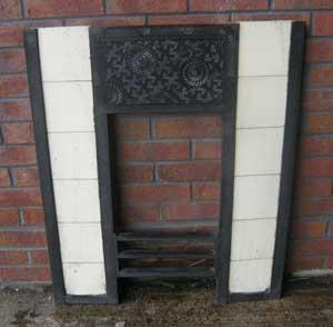 Antique Aesthetic Movement Tiled Fireplace Insert