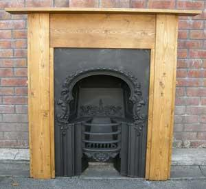 Period Style Pine Fireplace Surround