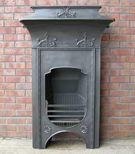 Old Art Nouveau Combination Fireplace