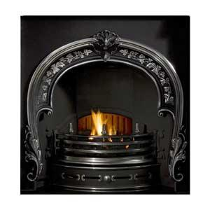 Fitzwilliam Horseshoe Cast Iron Fireplace Insert