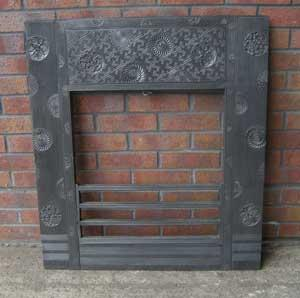 Antique Aesthetic Movement Cast Iron Insert