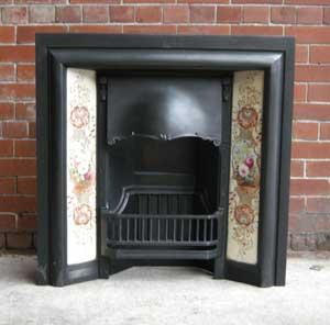 Reclaimed Edwardian Tiled Fireplace Insert