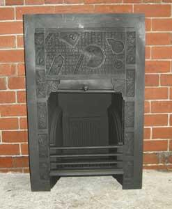 Aesthetic Movement Cast Iron Fireplace Insert