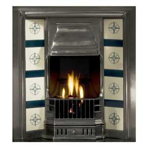 Prince Tiled Cast Iron Fireplace Insert