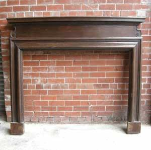 Antique Victorian Carved Oak Fireplace Surround