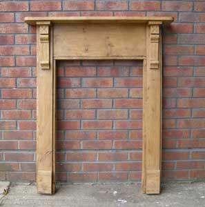 Reclaimed Victorian Pine Fire Surround