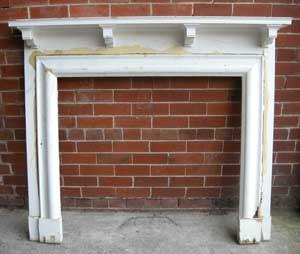 Antique Victorian Pine fireplace surround