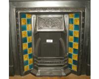 Arts & Crafts Tiled Cast Iron Fireplace Insert