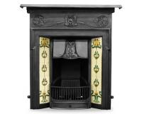 Morris Art Nouveau Tiled Cast Iron Combination Fireplace