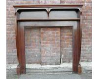 Antique Edwardian Mahogany Fireplace Surround